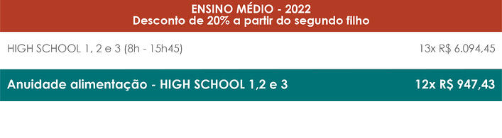 Tabela de Preços_High School - Port