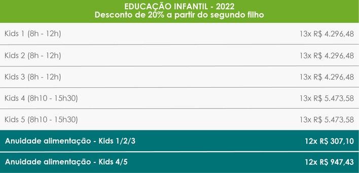 Tabela de Preços_Kids - port